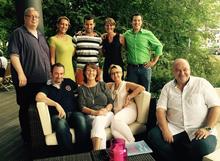 Angehende Autoren mit Dozentin Ute Flockenhaus